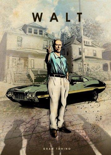 *m. gran torino walt kowalski clint eastwood car legends legend muscle Characters