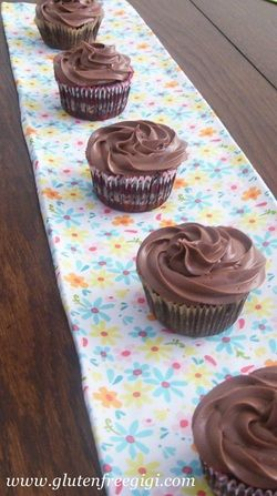GF Dairy-free Chocolate Cupcakes! A terrific recipe for those of us with multiple food allergies! (also free from soy, peanuts, tree nuts, egg)