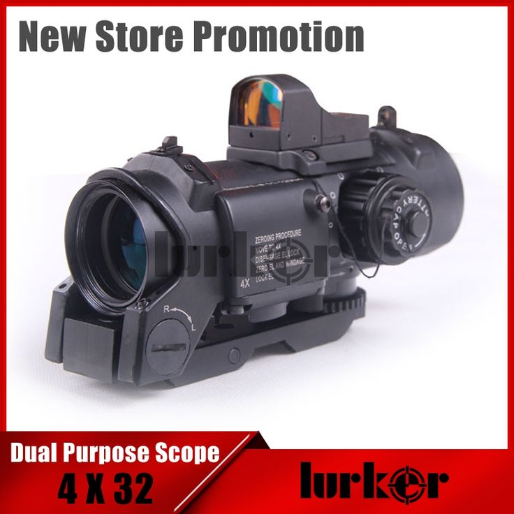 102.00$  Buy now - http://aliemz.worldwells.pw/go.php?t=32742124938 - KINSTTA 4x Fixed Dual Purpose Scope With Mini Red Dot Scope Red Dot Sight For Rifle Hunting Shooting CS Battle KT2-0010