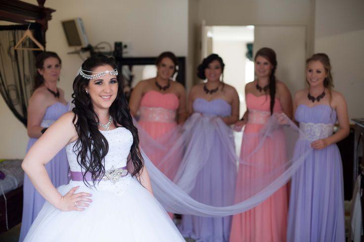 Birde and Bridesmaids  Bowral Wedding  Real Brides of Ivory Princess Bridal  www.weddingdressesbowral.com