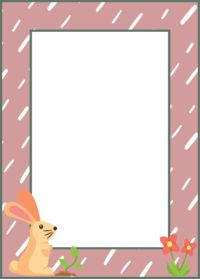 Frame Rabbit Pink