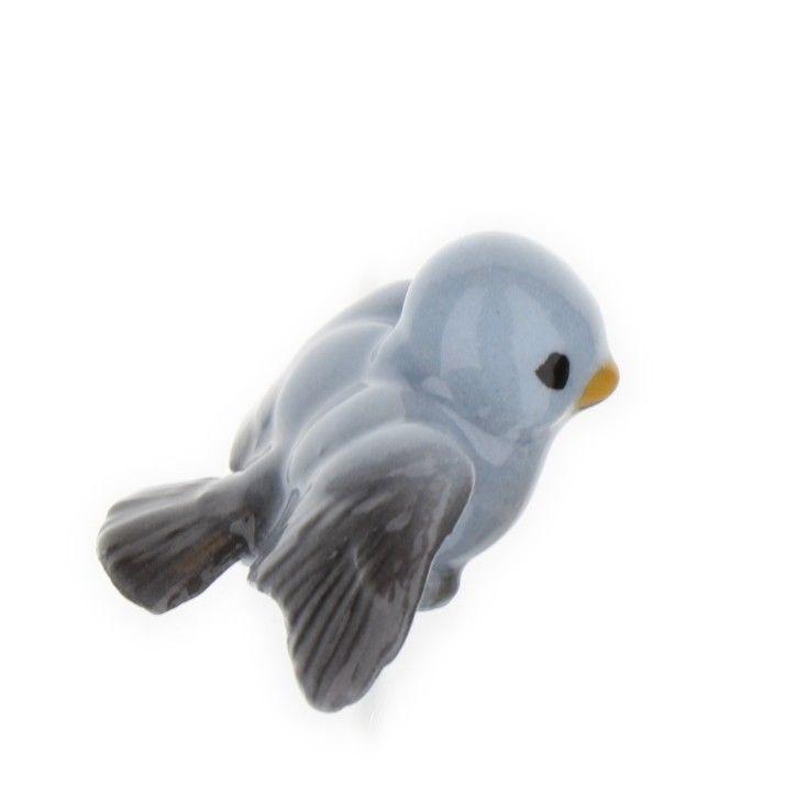 Hagen Renaker Miniature Bird Blue Ceramic Figurine