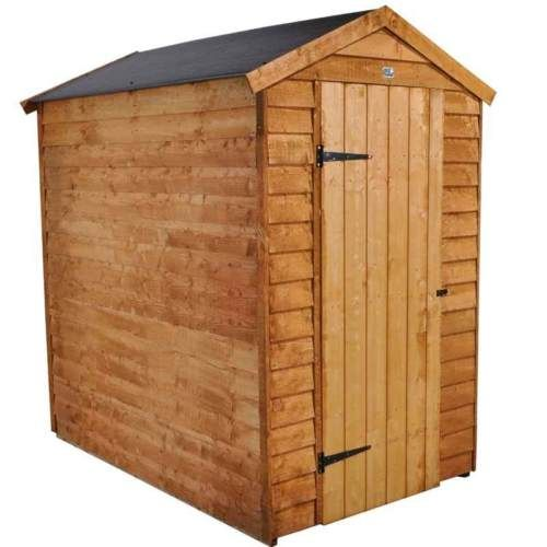 6x4 garden shed easy fit roof single door apex wooden sheds 6ft x 4ft un used