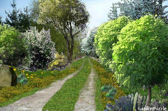 Projekt ogrodu:Wiejska droga - Wiosna