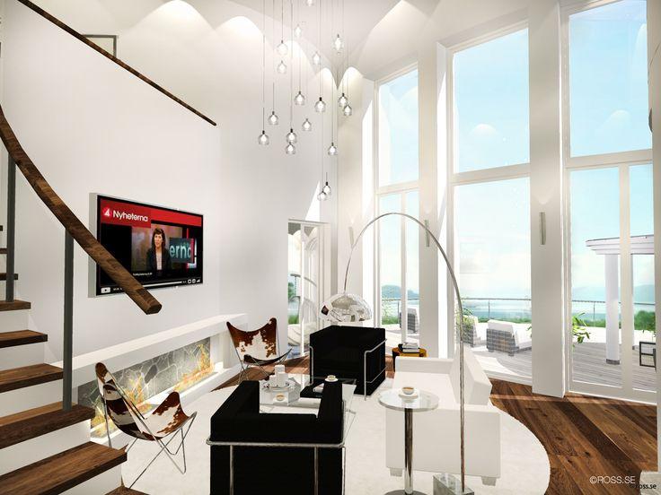 Lampor vardagsrum?  Design © Arkitekt Pål Ross - Villa Laguna