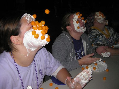cheese ball toss...they'd love this!!!!!!!