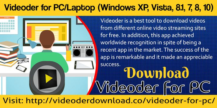 Videoderis a best tool to download videos from different online video streaming sites for free. Click here for more info:http://videoderdownload.co/videoder-for-pc/