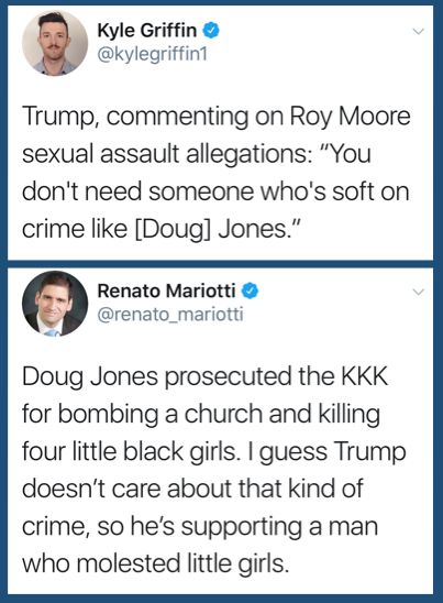 "Is it because most ""conservatives"" -- in or outside of Alabama -- don't have a recollection of this 1963 event (and therefore, attach no significance to the legal & historical achievement Mr. Jones' successful prosecution represents... or is it just because they'd vote for A. Hitler (R) over J. Christ (D) given a choice?"