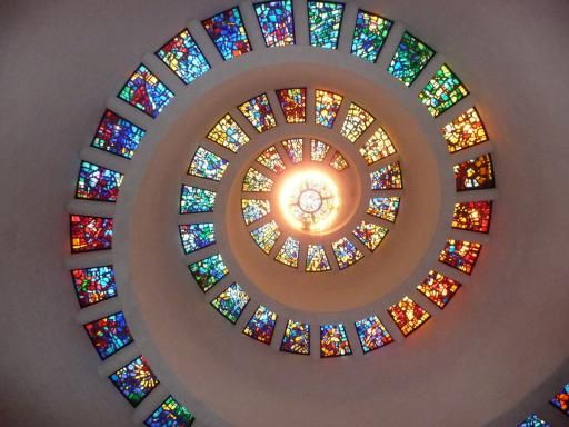 Glas in Lood Plafond Thanks Giving Square Chapel