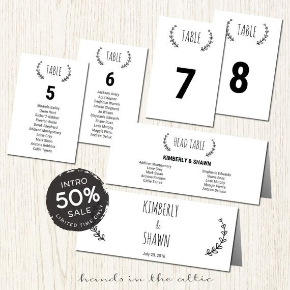 39 best wedding table numbers & seating images on pinterest Wedding Escort Cards And Table Numbers seating cards for wedding seating cards printable wedding table numbers printable wedding seating cards template digital wedding escort cards and table numbers