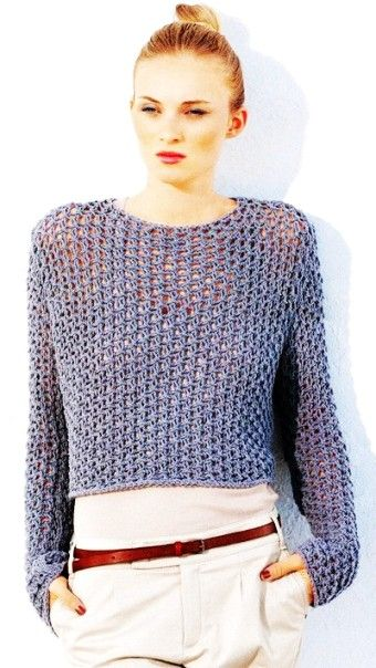 See Through Fishnet Sweater Knitting Pattern PDF - LoveItSoMuch.com