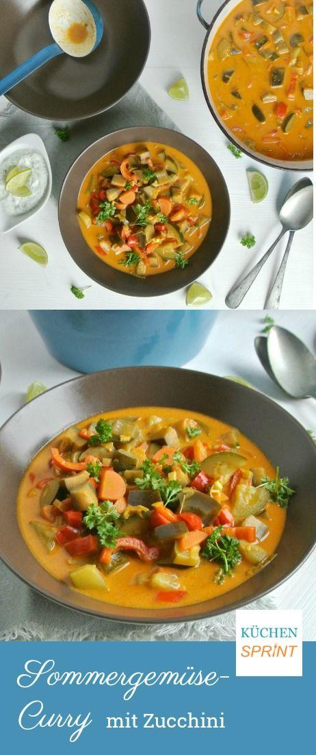 Sommergemüse-Curry mit Zucchini