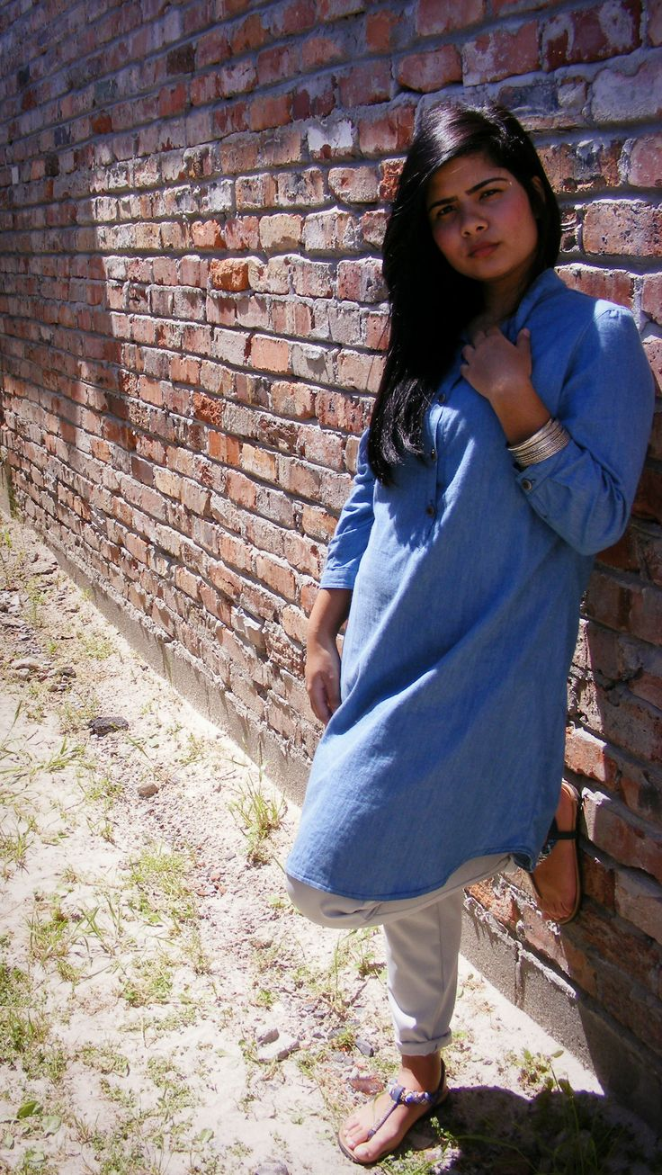 Denim Shirt/Dress  www.facebook.com/aleena2014