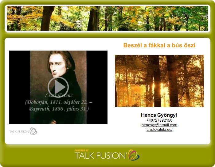 Video Email : Petőfi, Beszél a fákkal a bús őszi szél.