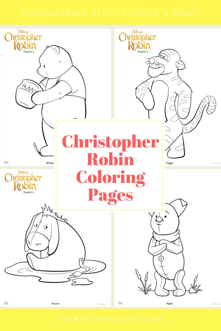 Christopher Robin Coloring Pages | Clementine County | Pinterest ...