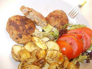 Οι συνταγές του Δίας!Dias recipes!: Ζουμερά Μπιφτέκια και Τσιπς Πατάτας στον Φούρνο Mo...