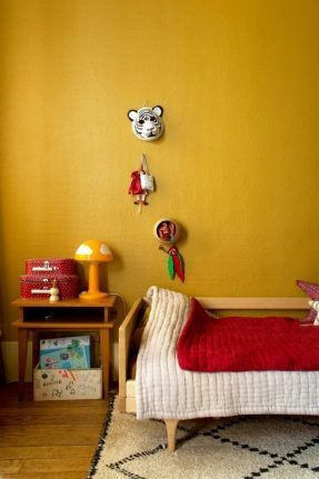 Jaune moutarde n'est pas jaune curry || Inside-Closet - Violette Paris 18 - Chambre d'enfant jaune