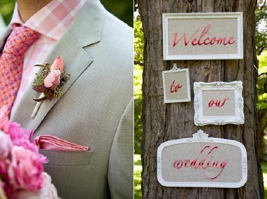 DIY idee voor als je gaat trouwen: WELKOM!! - Pinterested @ http://wedspiration.com.