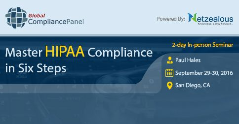 Areas covered will be history of HIPAA, privacy vs security, business associates, changes for 2016, audit process, paper based PHI, HIPAA and suing, texting, email, encryption, medical messaging, voice data and much, much, more http://www.globalcompliancepanel.com/control/globalseminars/~product_id=900616SEMINAR