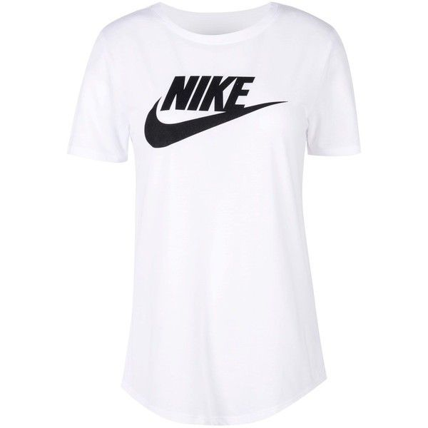 Nike T-shirt ($25) ❤ liked on Polyvore featuring tops, t-shirts, white, nike, white jersey, white t shirt, white short sleeve top and short sleeve t shirts