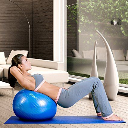 Exercise Ball Fitness, Stability, Balance & Yoga - Workout Guide & Quick Pump