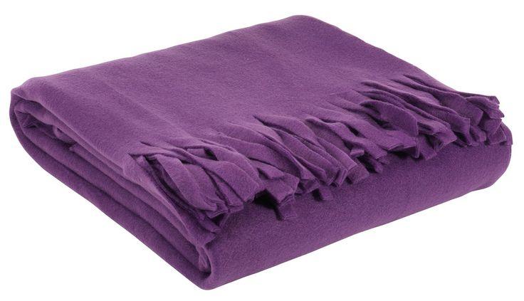 Pledd KARVE 130x170cm lilla fleece | JYSK