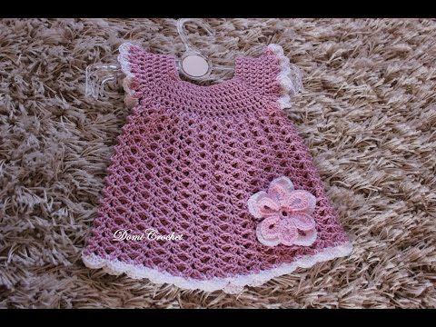 Háčkované detské šaty - 2. časť - YouTube