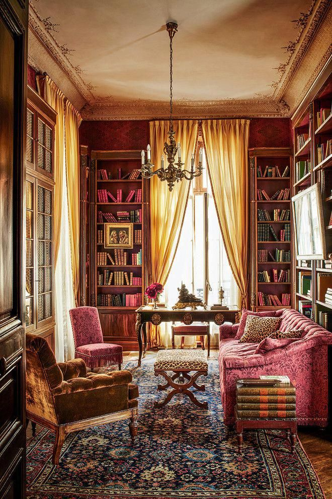 Library A writing desk in the style of Louis XV On the floor