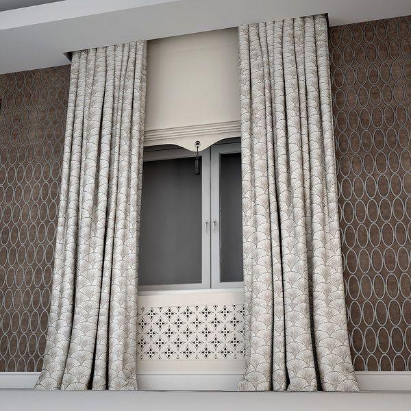 Modern Art Deco Curtains 3D Model By Kupfer