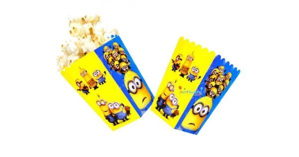 Minions Mısır KutusuMinion Rush Popcorn Ürün ÖzellikleriÜrün Paketinde 10 AdetMinions Mısır Kutusu bulunur.Karton Çılgın HırsızPopcorn Kutusu Kaliteli ve canlı renkli baskıdır.Minionstemalı mısır kutularının ebatları eni 8 cm, boyu 11.5 cm'dir.Görüntüdeki mısır görsel amacıyla kull