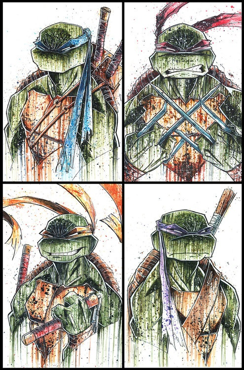 This is awsome!! Rude, but very beautiful.  TMNT Saucy 2013 by =RobDuenas