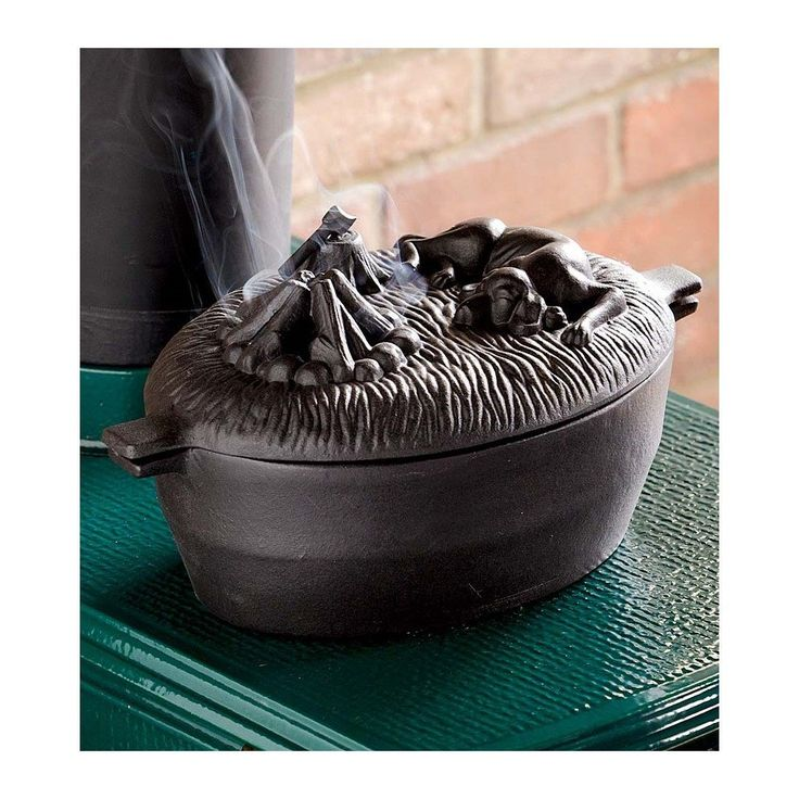 Amazon.com: Cast Iron Dog Wood Stove Steamer, In Black: Kitchen & - 7 Best Cast Iron Images On Pinterest Wood Stoves, Cast Iron And