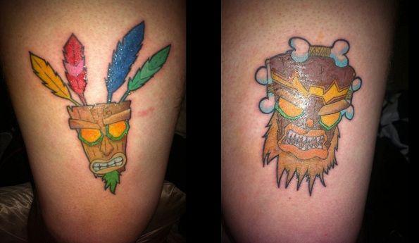 25 best tattoo idea video game images on pinterest for Aku aku tattoo