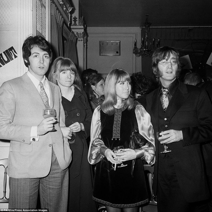 Man about town: John Lennon and Cynthia with Paul McCartney and his then girlfriend Jane Asher in 1968