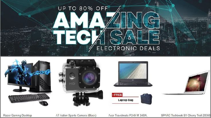 Electronic Deals—Up to 80% off on Laptops and Cameras