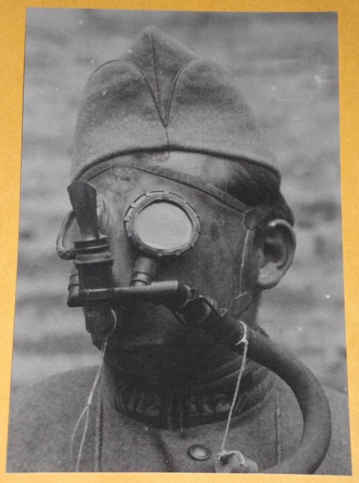 Ww1 French Soldier Gas Mask World War One World War I War