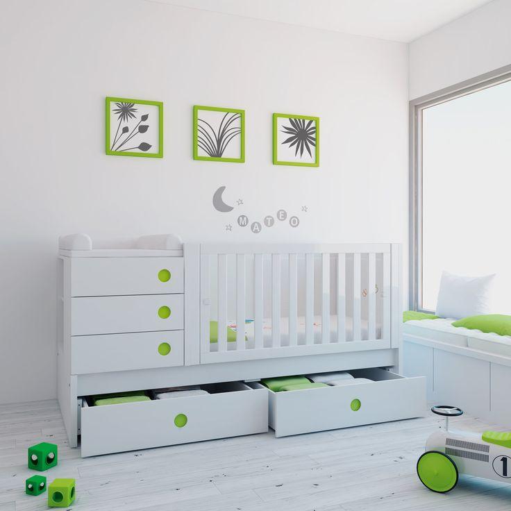 71 best cunas convertibles images on pinterest baby room - Habitaciones bebe modernas ...