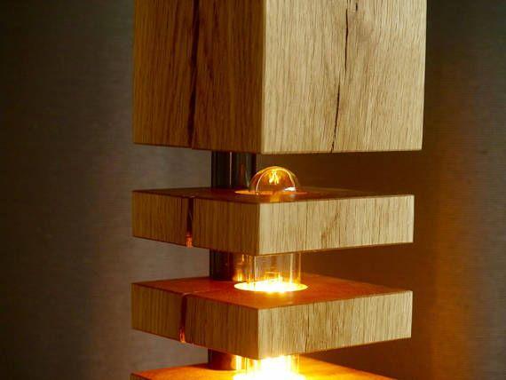 Moderne Massivholz Stehlampe Design No1 F Ls150 Mit Aluminiumstander Vollholz Eichenbalken In Den 5 Holzsche Indoor Floor Lamps Oak Floor Lamp Diy Floor Lamp