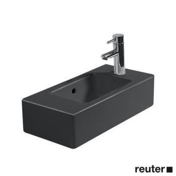 Duravit Vero Handwaschbecken schwarz mit 1 Hahnloch rechts