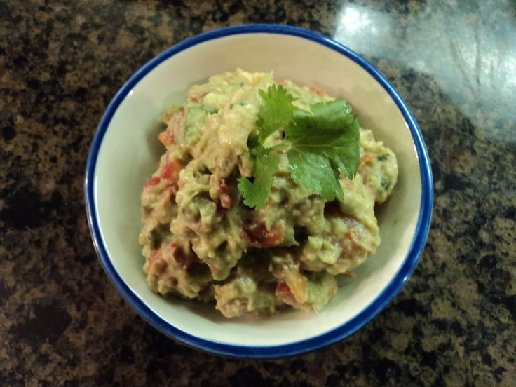 Guacamole - This recipe is super easy because the herbs and spices are already in the can of Ro-tel.