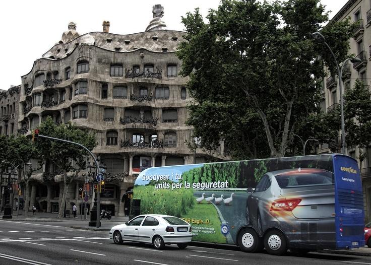 Autobús seguridad vial Goodyear Auriga Cool Marketing