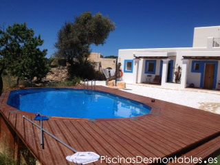 17 best images about fotos de piscinas gre on pinterest for Piscina elevada madera