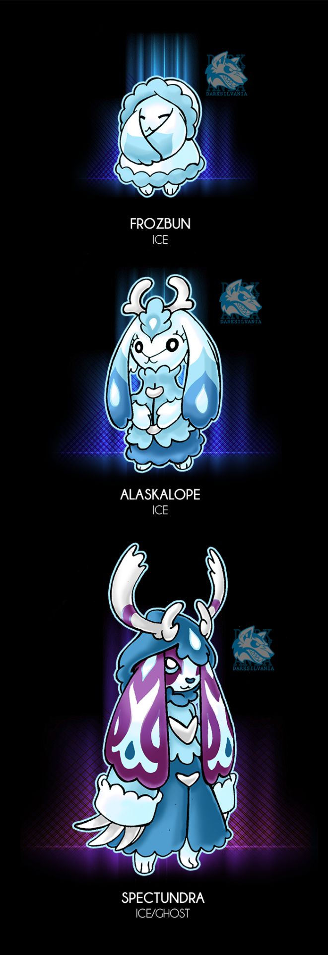 """361-FROZBUN [Frozen-Bunny] -Ice -The Cold pokemon -Ability: Snow Cloak - Fur Coat(HA) -Dex: """"To protect themselves from the cold weather, their fur has grown extremely thick, making them round and..."""