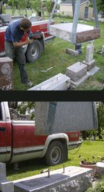 Larsen's surpasses the typical industry standard by pinning all of our upright memorials.Pinning ensures continued stability on the foundation to avoid costly and unnecessary damage to your loved one's memorial.Call: (204) 633-5053.