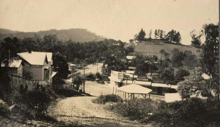 View of Terry's Hill,looking into Belgrave,Victoria in 1928. Photographer: Walter Burke. Museum Victoria.