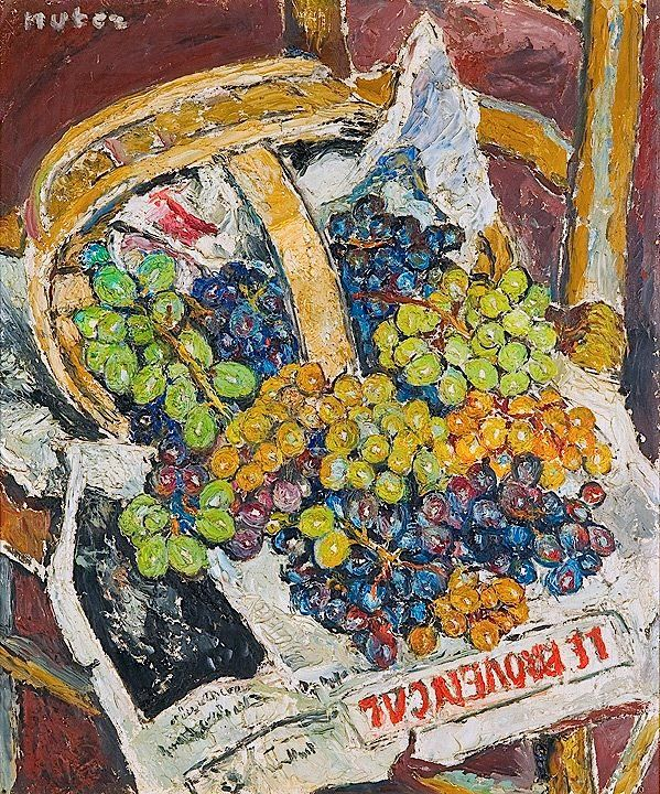 Mela Muter - Still Life with Basket of Grapes