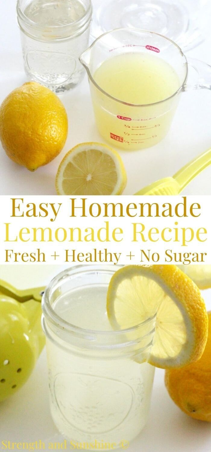 How To Make Lemonade Without Sugar Healthy Homemade Recipe Recipe Homemade Lemonade Recipes Healthy Lemonade Lemonade Recipes