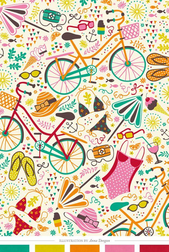 papel deco bici