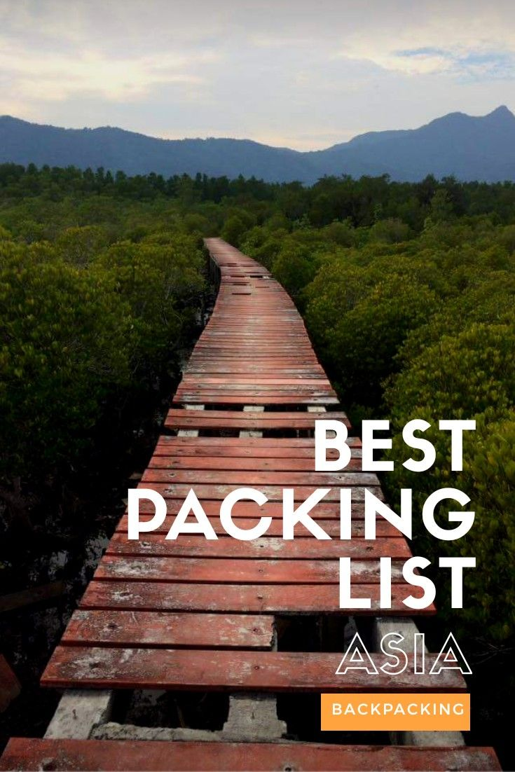 Best packing list, backpacking Asia