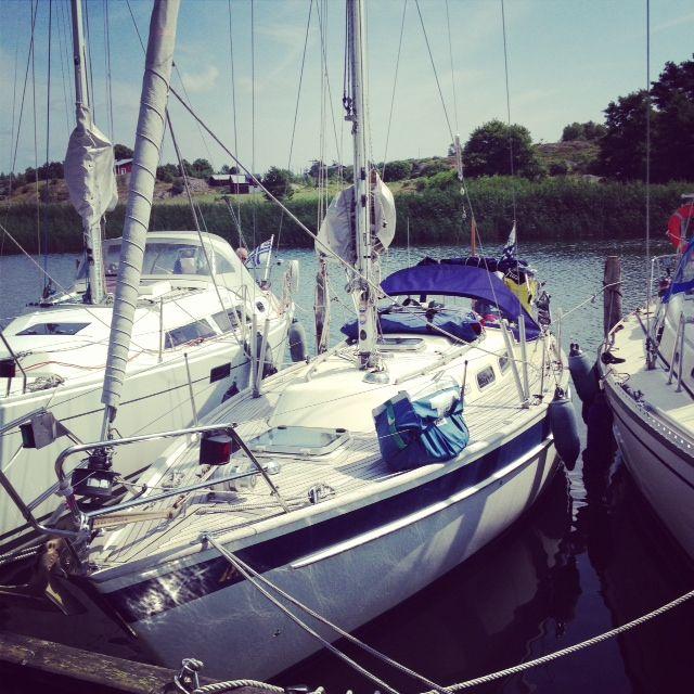 Exploring Kökar, Åland: Karlby harbour #sailing #boating  #HallbergRassy